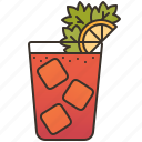 bloody, cocktail, drink, juice, mary icon