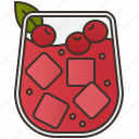 alcohol, cocktail, gin, iced, juice icon