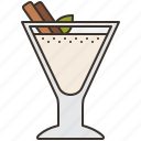 beverage, cinnamon, drink, eggnog, homemade icon