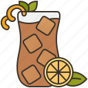 beverage, drink, iced, lemon, tea icon