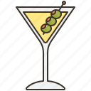 alcohol, bar, cocktail, dry, martini icon