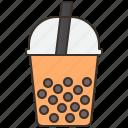 boba, bubble, iced, milk, tea icon