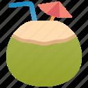 coconut, fresh, juice, tropical, water