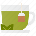 cup, green, hot, relaxation, tea icon