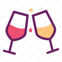 celebration, cheers, drinks, glass, juice, party icon