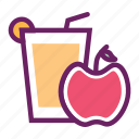 apple juice, beverage, fruit juice, juice, soft drinks icon