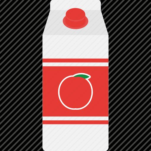 apple, beverage, box, carton, drink, juice, packaging icon