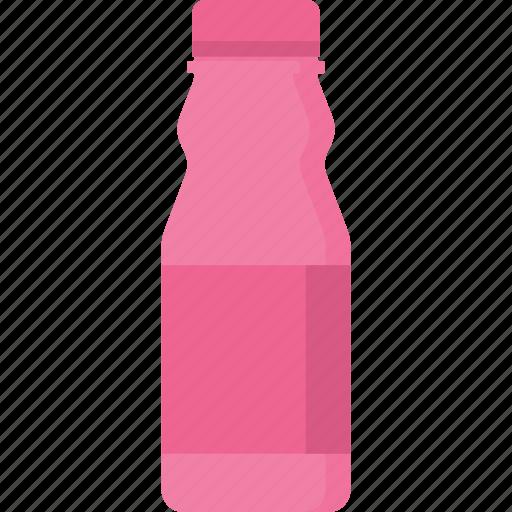 beverage, bottle, drink, food, milk, packaging, strawberry icon