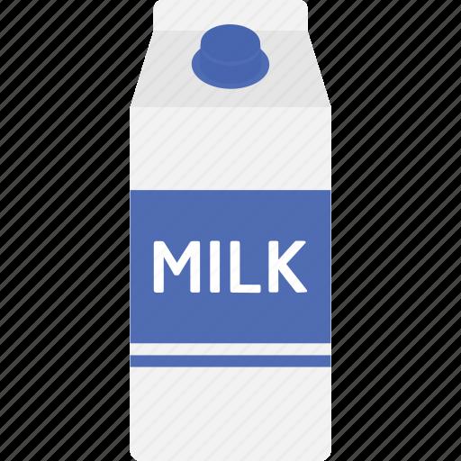 beverage, box, carton, drink, food, milk, packaging icon