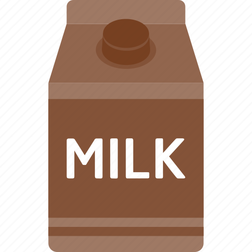 beverage, box, carton, chocolate, drink, milk, packaging icon