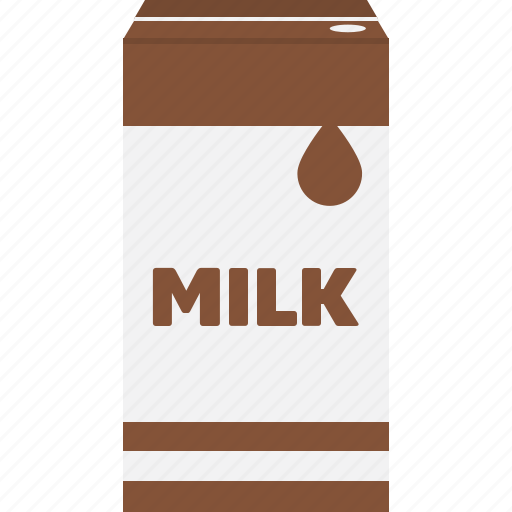 beverage, box, chocolate, drink, milk, packaging, uht icon