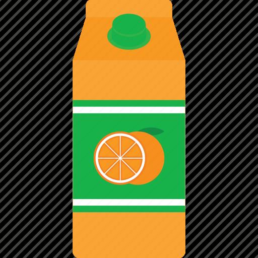 beverage, box, carton, drink, juice, orange, packaging icon