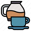 coffee, glass, maker, mug, office icon