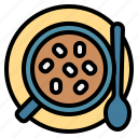 chocolate, hot, marshmallow, mug, spoon icon