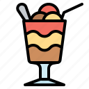 cream, dessert, float, glass, ice, layer icon