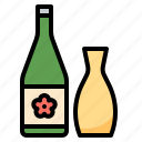 alcohol, beverage, bottle, japanese, sake icon