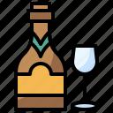 beverage, bottle, champagne, drink, food, healthy, restaurant icon