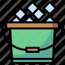 beverage, bottle, bucket, drink, food, fruit, ice icon