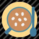 chocolate, hot, marshmallow, mug, spoon icon