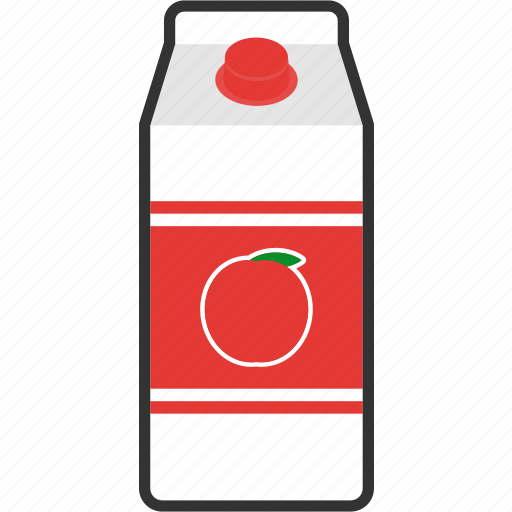 apple, beverage, box, carton, drink, juice, packaging icon