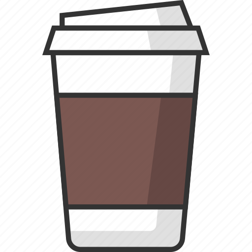 beverage, coffee, cup, drink, food, glass, packaging icon