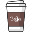 coffee, cup, drink, packaging, beverage, glass, food