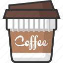 beverage, coffee, cup, drink, hot, hot drink, packaging icon