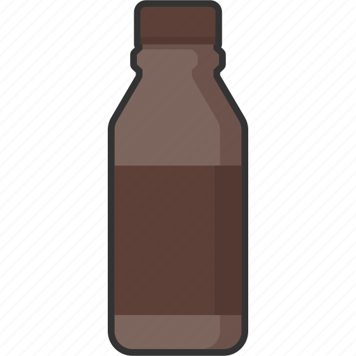 beverage, bottle, chocolate, drink, food, milk, packaging icon