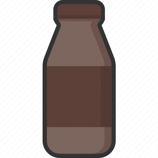 beverage, bottle, chocolate, drink, food, milk, packaging icon