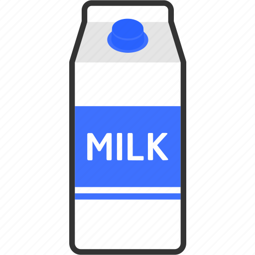 beverage, box, carton, drink, food, milk, packaging icon
