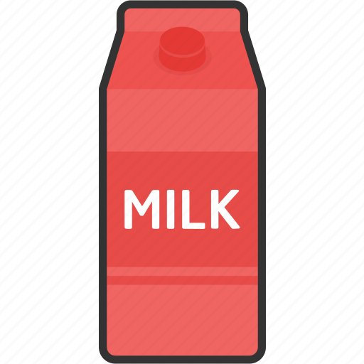 beverage, box, drink, food, milk, package, packaging icon