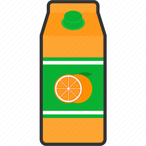 beverage, box, drink, fruit, juice, orange, packaging icon