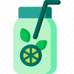 beverage, drink, fruit, juice, summer, tea, water icon
