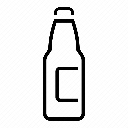 beverages, bottle, food, groceries icon icon