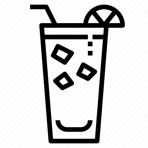 beverage, cocktail, collin, glass, lemon, punch icon