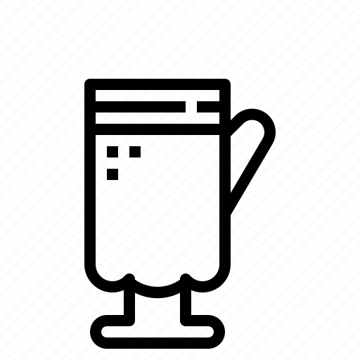 beverage, coffee, drink, glass icon
