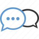 bubbles, chat, conversation, more, talk, wait icon