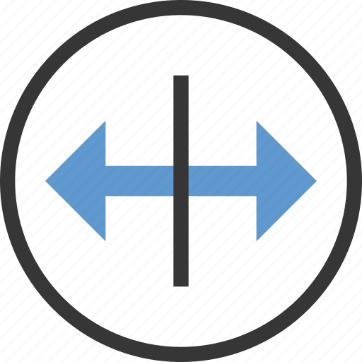 arrow, circle, drag, horizontal, move icon
