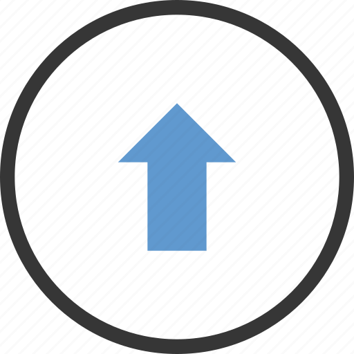 arrow, circle, increase, up, upload icon