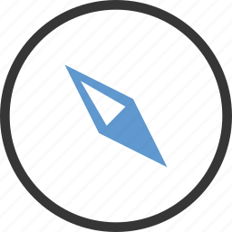 archive, circle, compass, safari, web icon