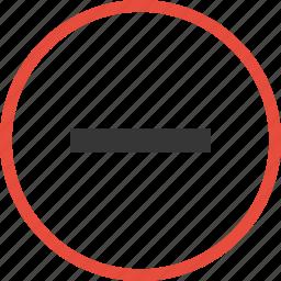 circle, forbidden, no icon