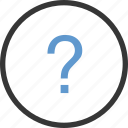 circle, help, mark, question icon