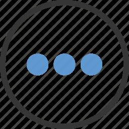 circle, list, menu, more icon
