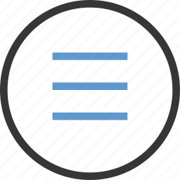 circle, detail, list, menu, more icon