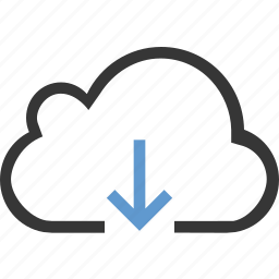 arrow, cloud, download icon