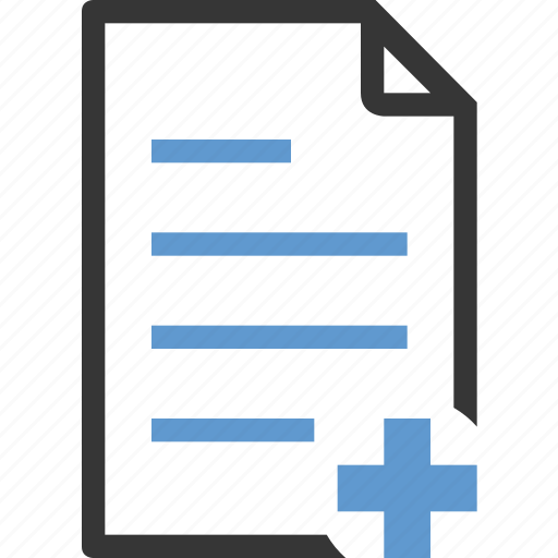 add, document, editor, file, new, text icon