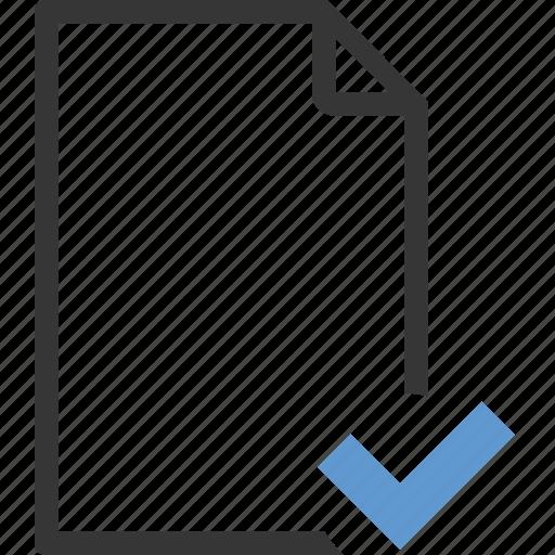 check, checkmark, document, editor, empty, file, select icon
