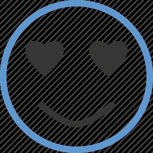 emoticon, face, heart, love icon