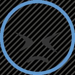 emoticon, face, sad icon