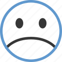 emoticon, face, sad icon